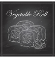 sushi sketch Vegetable roll vector image vector image