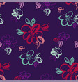 tropical night colors hand drawn flowers vector image vector image