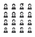 user icons vector image vector image