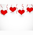 valentines day background with red decorations vector image