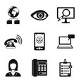 worldwide surveillance icons set simple style vector image vector image