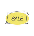 yellow label promoting sale vector image vector image