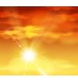 Beautiful sunset vector image