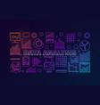 data analysis colorful modern banner vector image