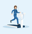 astronaut physical training flat vector image vector image