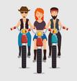 biker culture bikers riding motorbikes vector image vector image