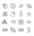 bitcoin icons set for internet money crypto vector image