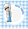 boy with knife vector image vector image