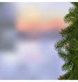 Branches of fir on winter background vector image
