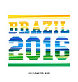brazil 2106 - welcome to rio - poster design vector image