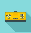 button gamepad icon flat style vector image vector image