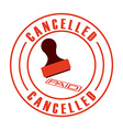 cancelled seal vector image