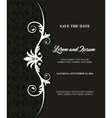 Card icon Invitation and Save the date design vector image