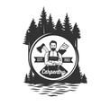 carpentry logo templates vector image vector image