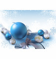 christmas background with xmas ornaments vector image vector image