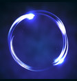 circle banner neon vector image