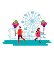 circus fun fair carnival vector image