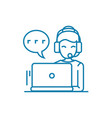 client support linear icon concept client support vector image
