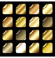 Collection of golden gradient icons vector image vector image