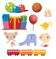 Colorful cartoon of baby stuffs vector image vector image