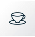 cup of tea icon line symbol premium quality vector image