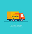 delivery service delivery by car or track vector image vector image