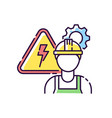 electrical engineer rgb color icon vector image