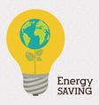 energy saving design vector image vector image