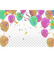 festive colors flags and baloon baner template vector image