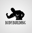 fitness logo vector image vector image