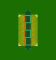 flat shading style icon pixel hot dog vector image