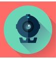 Flat Webcam Icon - Simple vector image vector image