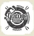 garage team service vector image vector image