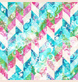 geometric abstract pattern with doodle style vector image vector image