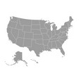 grey map the usa vector image vector image