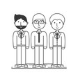 group businessman people working together vector image
