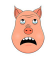 head of pig in cartoon style kawaii animal vector image vector image