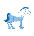 horse animal farm domestic strong image vector image vector image