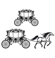Horse with old carriage vector image vector image
