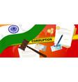 india fights corruption money bribery financial vector image vector image