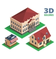 Isometric House Store and Building Designs vector image vector image