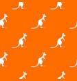 kangaroo pattern seamless vector image