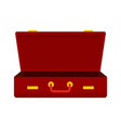 leather suitcase icon flat style vector image vector image