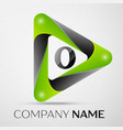 letter o logo symbol in the colorful triangle on vector image vector image
