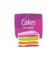 logo cake vector image vector image