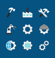 manufacturing flat icons vector image vector image