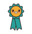 medal award ribbon kawaii cartoon vector image vector image