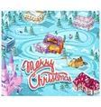 Merry Christmas GUI - map playing field vector image vector image
