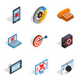 mobile computer icons set isometric style vector image vector image