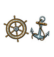 nautical concept set objects vector image vector image
